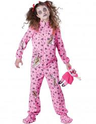 Zombie-Schlafanzug Halloween Kinderkostüm pink-bunt