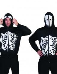 Skelett Kapuzenjacke Halloween schwarz-weiß