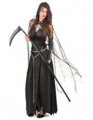 Sensenfrau Halloween Damenkostüm schwarz