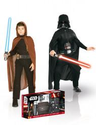 Star Wars™ Kostüm-Set für Kinder Darth Vader Jedi Lizenzware schwarz-braun