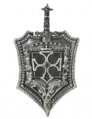 Ritter-Schwert mit Schild 60cm