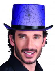 Halloween-Zylinder Spinnennetze lila-schwarz