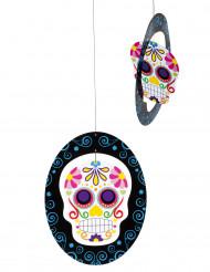 Dia de los Muertos Sugar Skull Halloween-Hängedeko bunt 35cm