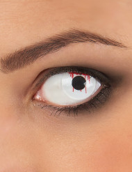 Schnittwunden-Kontaktlinsen Halloween-Kontaktlinsen weiss-rot