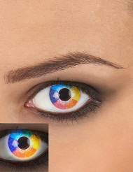 UV Kontaktlinsen Schwarzlicht Rainbow bunt