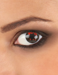 Blutige Dämonen-Kontaktlinsen Halloween-Motivlinsen schwarz-rot 14,5mm