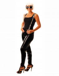 Glanz Leggings Strumpfhosen schwarz