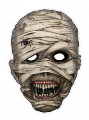 Mumie Halloween-Maske grau-rot