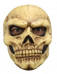 Skelett Maske für Erwachsene - Hand bemalt beige-schwarz