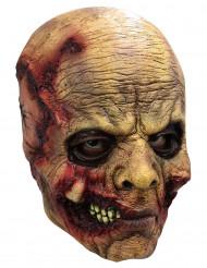 Halloween Maske verfaulendes Gesicht braun-rot
