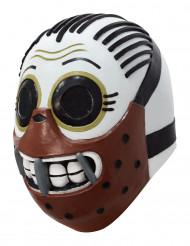 Kannibalen Maske Dìa de los muertos Calaveritas weiss/braun/schwarz