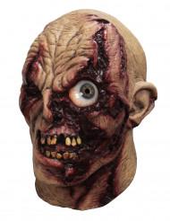 Halloween Zombie Maske Animiert hautfarben-rot