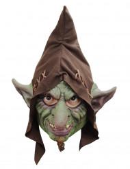 Halloween Maske Goblin - handbemalt grün-braun