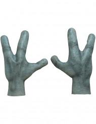 Alienhände Außerirdischen Accessoires 2 Stück grau