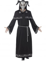 Teuflischer Hexenmeister Halloween-Herrenkostüm schwarz-grau