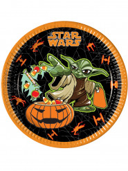 Star Wars Halloween Pappteller Party-Deko 8 Stück bunt 23cm