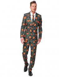 Kürbis Anzug Suitmeister schwarz-orange-grün