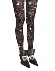 Hexenschuhe Stiefelüberzieher Kostüm-Accessoire für Halloween schwarz-silber
