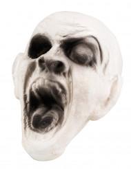 Halloween-Dekoration Zombie-Kopf beige 15 x 15 cm