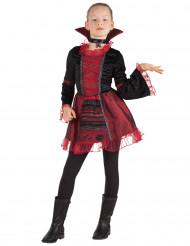 Elegante Vampirin Halloween-Kinderkostüm dunkelrot-schwarz