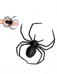 Schaurige Spinne Halloween-Deko schwarz 18x15cm