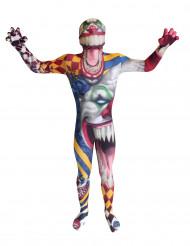 Horror Clown Kinder Morphsuit Halloween bunt