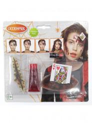 Halloween-Schminkset Blutige Herzkönigin 4-teilig
