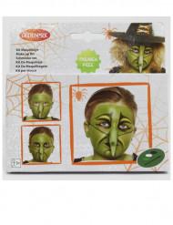 Make-up-Set Halloween-Hexe für Kinder