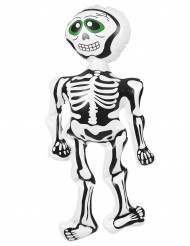 Aufblasbares Skelett Halloween-Deko weiß-schwarz-grün