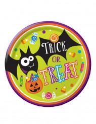 Trick or Treat Teller Halloween Pappteller 8 Stück bunt 23cm