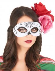 Tag der Toten Augenmaske Kostümaccessoire bunt