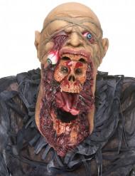 Verschlingende Zombie-Maske mit Brustteil  beige/schwarz/rot