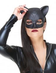 Katzen Halbmaske für Frauen Kostüm-Accessoire schwarz