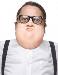 Mann mit Doppelkinn Halbmaske für Herren Kostüm-Accessoire hautfarbe