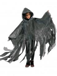 Schwarz/weißer Umhang mit Kapuze für Kinder Halloween grau