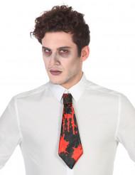 Halloween-Krawatte blutige Krawatte schwarz-rot 31cm