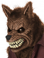 Werwolf Halloween Ani-Motion Maske braun