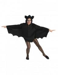 Fledermaus Halloween-Umhang für Damen schwarz