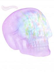 Leuchtender Totenkopf mit Sound Halloween-Deko weiss 32cm