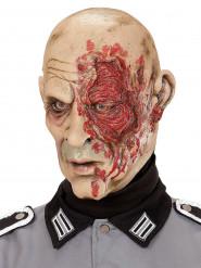 Halloween Maske Zombi General 2. Weltkrieg für Erwachsene hautfarben-rot