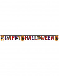 Girlande Happy Halloween mit kleinen Monstern Bunt