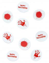 Blutiges Halloween-Konfetti Tischdeko rot-weiss 9g