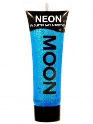 Moon Glow - Neon UV Glitter Gesicht- und Körperfarbe Schminke Makeup Bodypainting Glitzer fluoreszierend blau 12ml