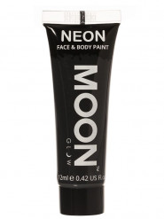 Moon Glow - Neon UV Gesicht- und Körperfarbe Schminke Makeup Bodypainting fluoreszierend schwarz 12ml