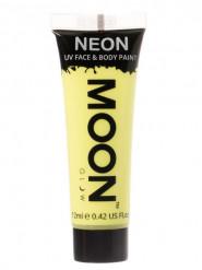 Moon Glow - Neon UV Gesicht- und Körperfarbe Schminke Makeup Bodypainting fluoreszierend pastell gelb 12ml