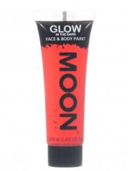 Moon Glow - Glow in the Dark UV Gesicht- und Körperfarbe Schminke Makeup Bodypainting nachtleuchtend rot 12ml
