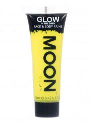 Moon Glow - Glow in the Dark UV Gesicht- und Körperfarbe Schminke Makeup Bodypainting nachtleuchtend gelb 12ml