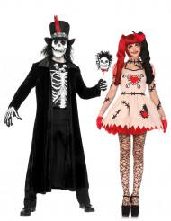Halloween Voodoo Puppe und Zauberer Paarkostüm