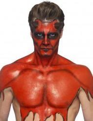Flüssiglatex Halloween-Schminke mit Schwamm rot 59ml