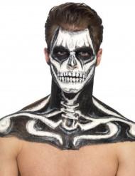 Flüssiglatex Halloween-Schminke mit Schwamm schwarz 59ml